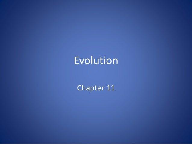 Evolution Chapter 11