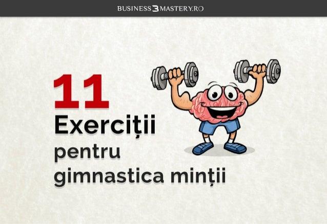11 Exercitii pentru gimnastica mintii.