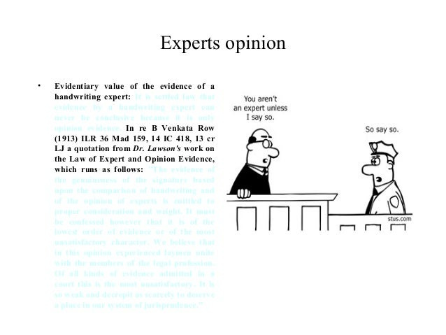 Rule 70 Testimony by Expert Witnesses