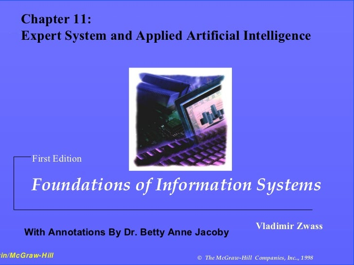 11- 1   Chapter 11: Expert Systems and Applied    Chapter 11:   ArtificialSystem and Applied Artificial Intelligence    Ex...