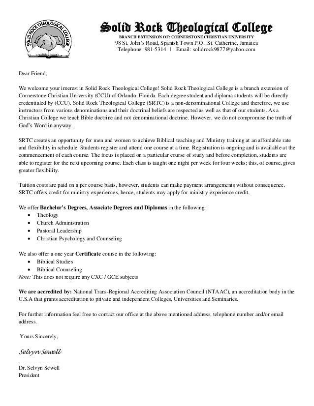 Prospective Students Letter