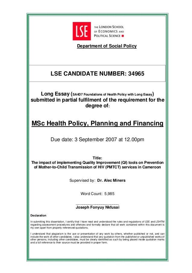 dissertation on pmtct