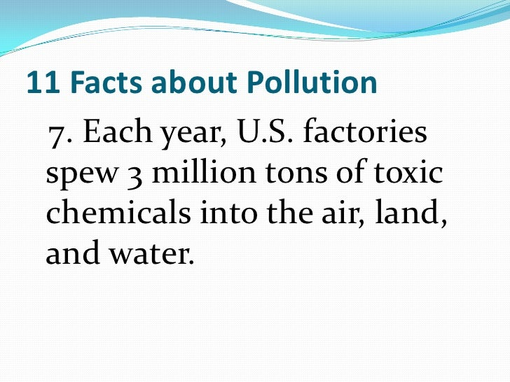 information on polution Soil pollution refers to an increased level of harmful human-made chemicals in the natural soil environment industrial pollutants and pesticides are two major soil pollution sources.