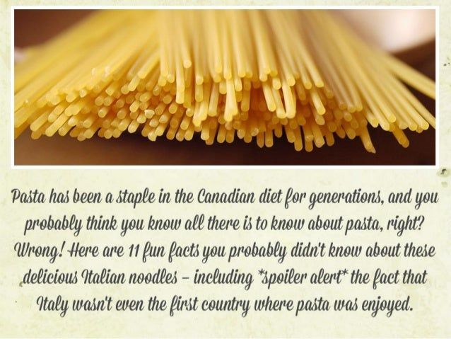 11 Facts You Probably Didn't Know About Pasta
