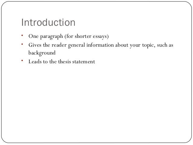 structuring an essay The university of reading is a global university that enjoys a world-class reputation for teaching essay writing see also our video tutorials on essay writing.