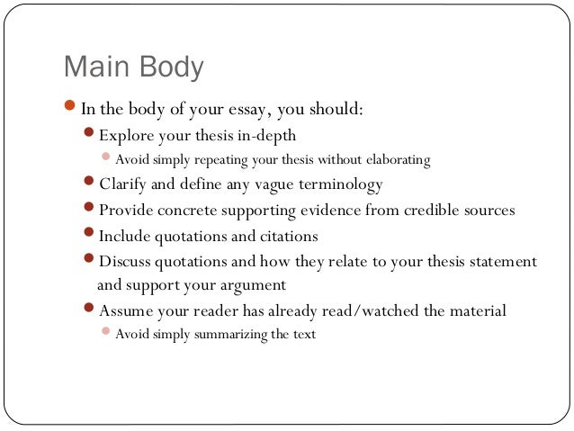 english structuring your essay 4 main body