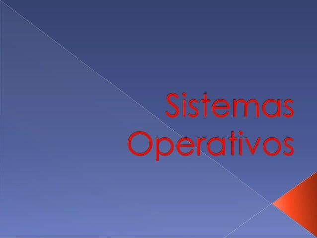  Um sistema operativo ou software de sistema é um programa ou um conjunto de programas cuja função é gerenciar os recurso...
