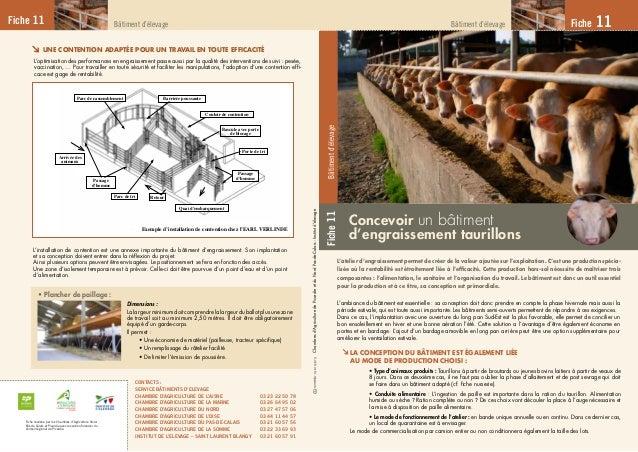 Fiche11Bâtimentd'élevage Fiche 11Bâtiment d'élevageBâtiment d'élevage Concevoir un bâtiment d'engraissement taurillons Fic...
