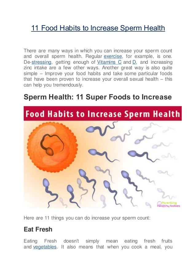 Can taking zinc increase sperm