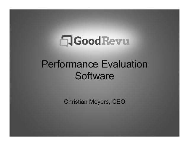 Performance EvaluationSoftwareChristian Meyers, CEO