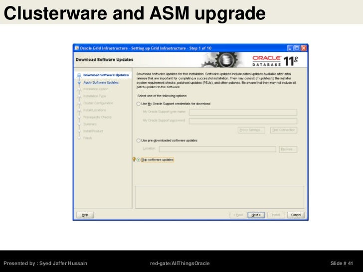 Upgrading to Oracle 11gR2