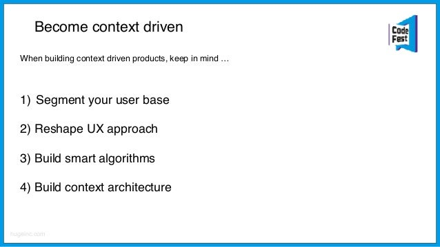 Become context driven: Segmentation Understand your user segments and identify most relevant life contexts. Based on that,...