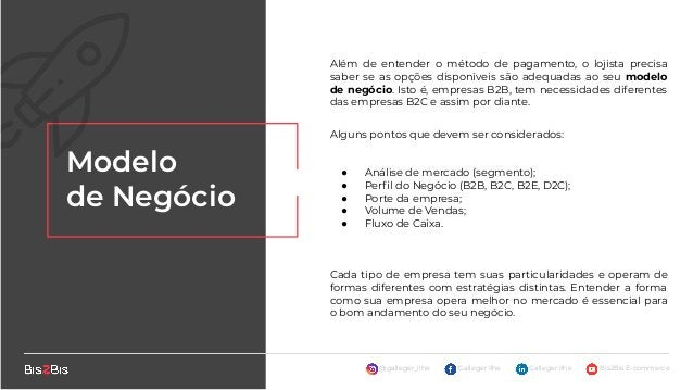 @galleger_ilhe Galleger Ilhe Galleger Ilhe Bis2Bis E-commerce Público- Alvo O objetivo principal para se dedicar e avaliar...