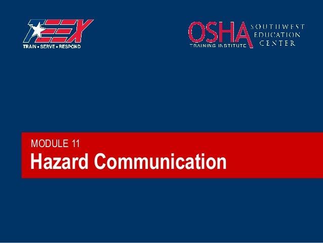 MODULE 11  Hazard Communication