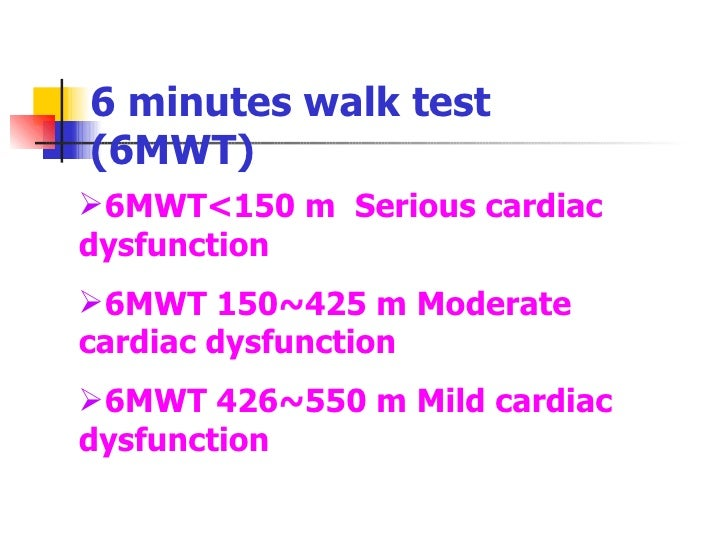 However Many Variables May Influence This Test And Therefore It The Main Result Of The Six Minute Walk Test 6mwt Is The Distance Covered By The