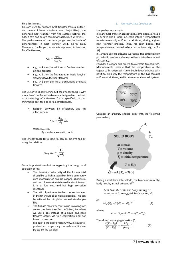 GATE Mechanical Engineering notes on Heat Transfer