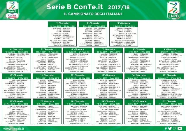 Cesena Calcio Calendario.Calendario Serie B Calcio 2017 18