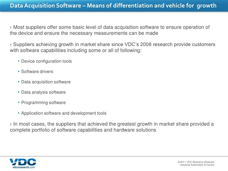 Principles Of Data Acquisition Experiment : Market for data acquisition solutions showing greater promise