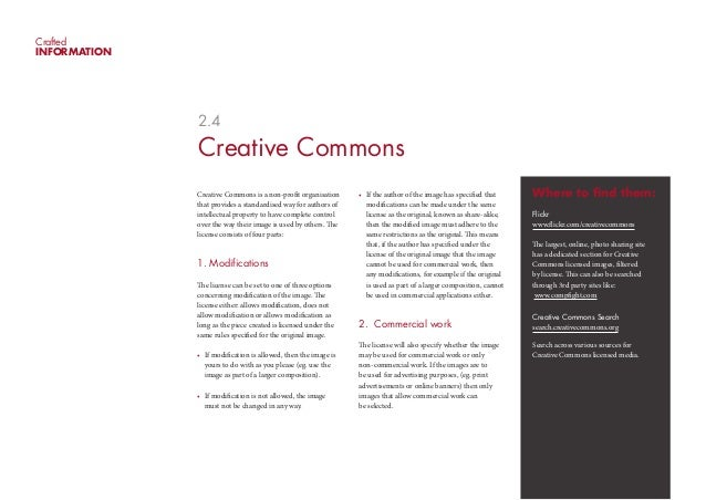 CraftedINFORMATION              2.4              Creative Commons              Creative Commons is a non-profit organisati...