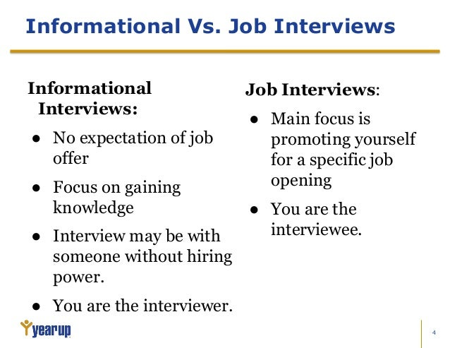 11 informational interviews