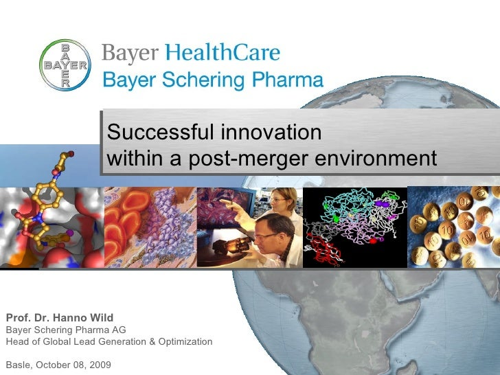 Prof. Dr. Hanno Wild Bayer Schering Pharma AG Head of Global Lead Generation & Optimization Basle, October 08, 2009 Succes...