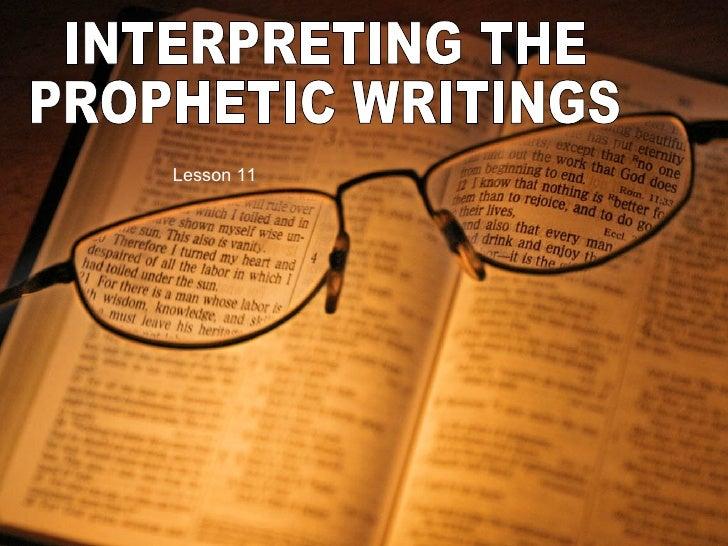 Dissertation prophetae