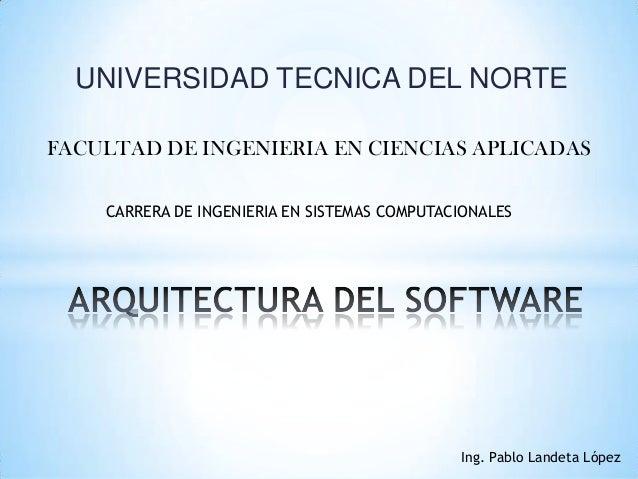 UNIVERSIDAD TECNICA DEL NORTE FACULTAD DE INGENIERIA EN CIENCIAS APLICADAS CARRERA DE INGENIERIA EN SISTEMAS COMPUTACIONAL...