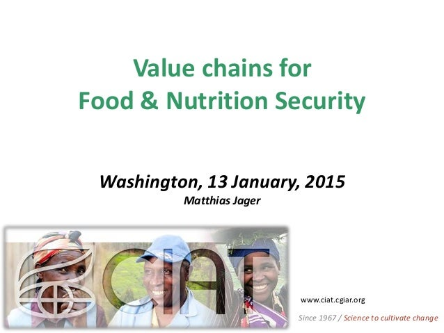 Value chains for Food & Nutrition Security Washington, 13 January, 2015 Matthias Jager www.ciat.cgiar.org Since 1967 / Sci...