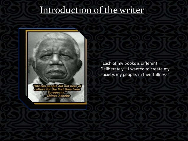 the contradictions of different cultures in chinua achebes things fall apart A half century after chinua achebe penned 'things fall apart' achebe discusses africa 50 years after 'things fall in which one culture was in contact.