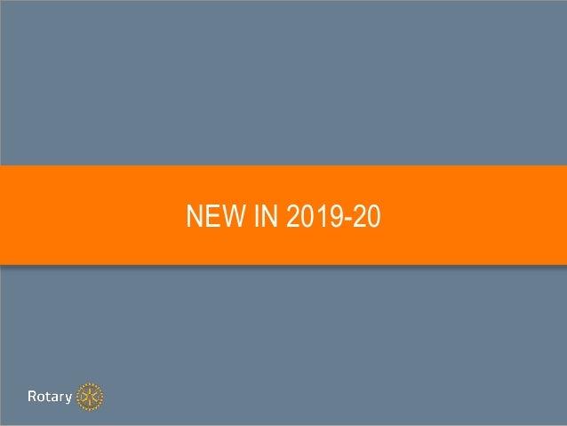 NEW IN 2019-20