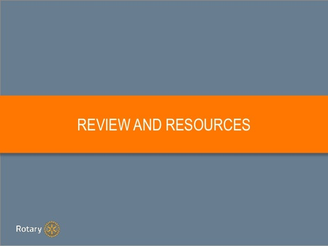 REVIEW AND RESOURCES