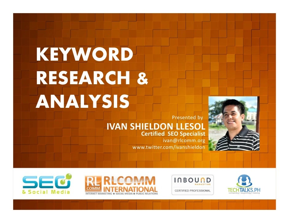 KEYWORD          RESEARCH &          ANALYSIS         EVENT ORGANIZED BY                                                  ...