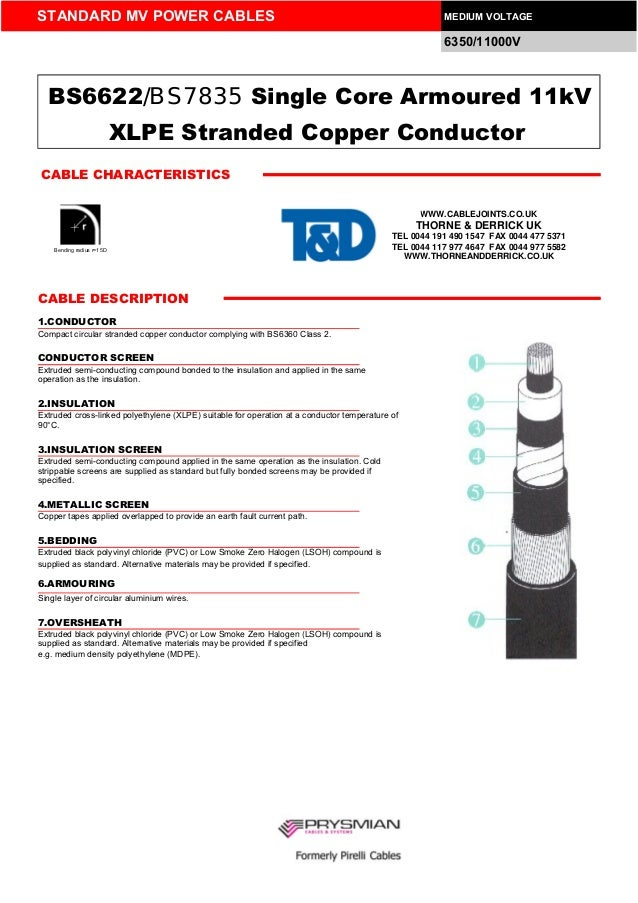 Medium Voltage Single Core Cable : Kv cable single core xlpe insulated awa bs