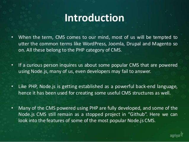 11 Live Node.js CMS Frameworks Slide 2