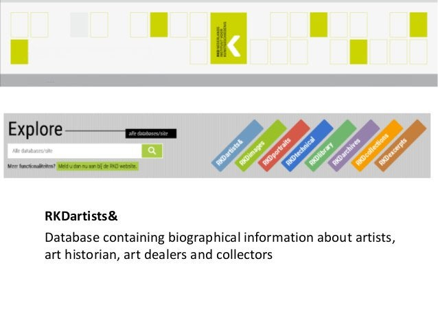 RKDartists& Database containing biographical information about artists, art historian, art dealers and collectors