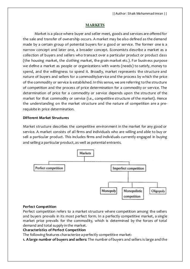 types of markets pdf