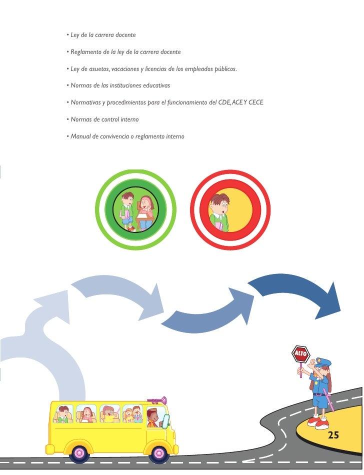 • Ley de la carrera docente  • Reglamento de la ley de la carrera docente  • Ley de asuetos, vacaciones y licencias de los...