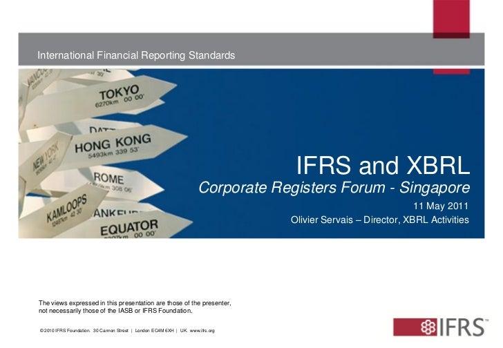 International Financial Reporting Standards                                                                               ...