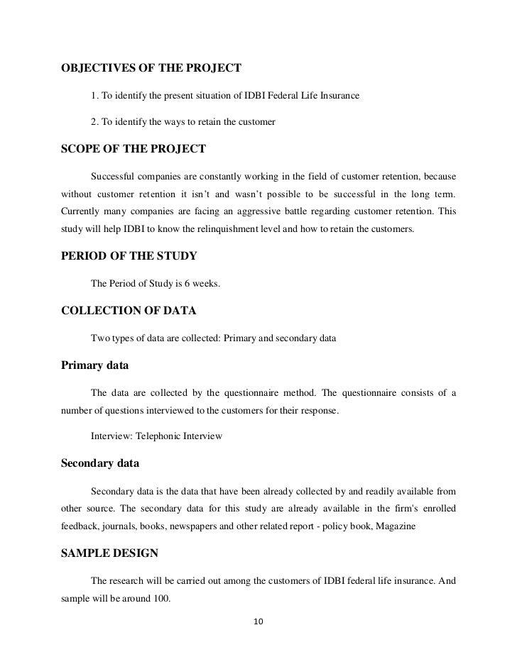 IDBI FEDERAL LIFE INSURANCE COMPANY LIMITED - Company ...