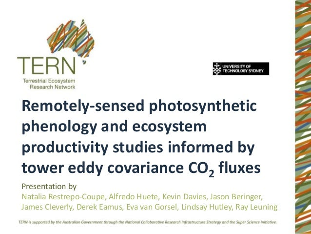 Remotely-sensed photosyntheticphenology and ecosystemproductivity studies informed bytower eddy covariance CO2 fluxesPrese...