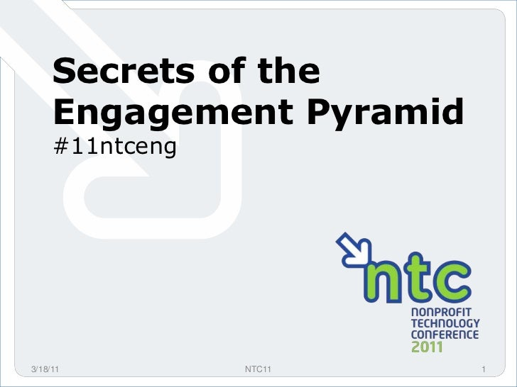 Secrets of the Engagement Pyramid<br />#11ntceng<br />3/18/11<br />1<br />NTC11<br />
