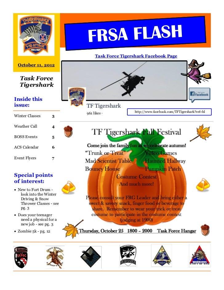 FRSA FLASH                                Task Force Tigershark Facebook Page  October 11, 2012  Task Force  TigersharkIns...