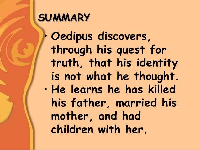 Oedipus prologue summary