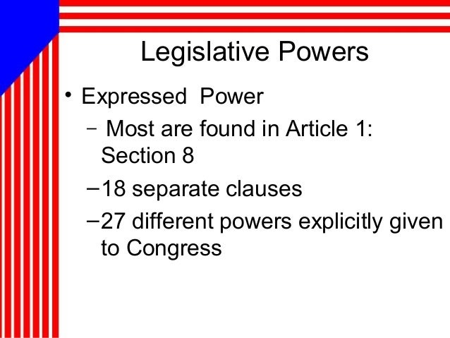 What are expressed powers?