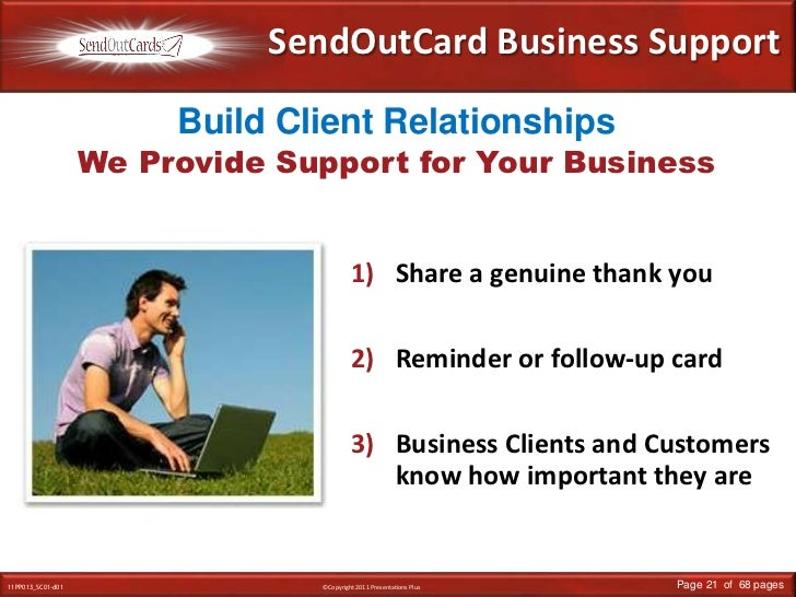 SendOutCard Business Support<br />Build Client Relationships<br />We Provide Support for Your Business<br />Share a genuin...