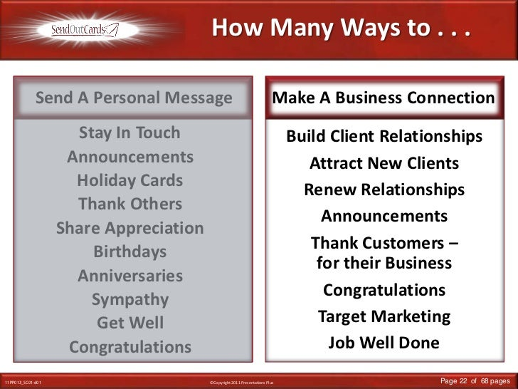 How Many Ways to . . .<br />Send A Personal Message<br />Make A Business Connection<br />Stay In Touch<br />Announcements<...