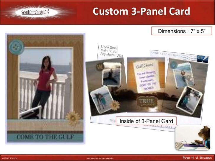 "Custom 3-Panel Card<br />Dimensions:  7"" x 5""<br />Linda Smith<br />Main Street<br />Anywhere, USA<br />Mr. & Mrs. John Sm..."