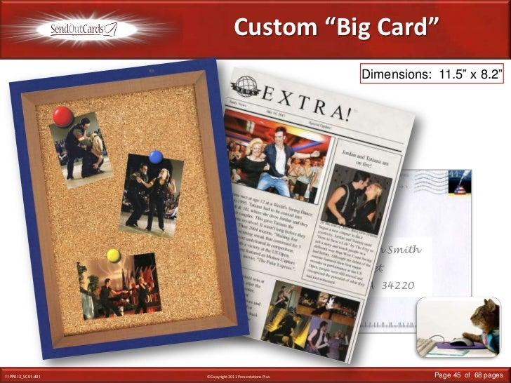 "Custom ""Big Card""<br />Dimensions:  11.5"" x 8.2""<br />Linda Smith<br />Main Street<br />Anywhere, USA<br />Mr. & Mrs. Robi..."