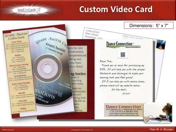 "Custom Video Card<br />Dimensions:  5"" x 7""<br />Linda Smith<br />Main Street<br />Anywhere, USA<br />Mr. & Mrs. John Smit..."