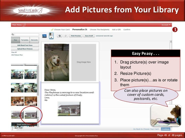 Add Pictures from Your Library<br /><br />Easy Peasy . . .<br />Drag picture(s) over image layout<br />Resize Picture(s)<...
